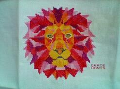 Cross stitch square for Bella T's quilt