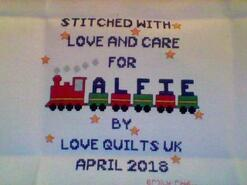 Cross stitch square for Alfie J's quilt