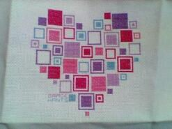 Cross stitch square for Courtney K's quilt