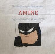 Cross stitch square for Amine B's quilt