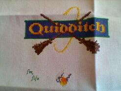 Cross stitch square for Archie M's quilt