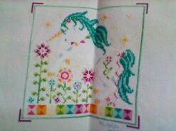 Cross stitch square for Daisy E's quilt