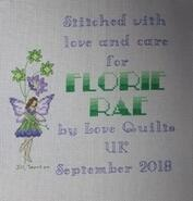 Cross stitch square for Florie-Rae's quilt