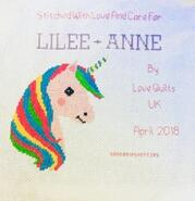 Cross stitch square for Lilee-Anne G's quilt