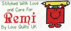 Cross stitch square for (No Deadline) Young Cartoons's quilt