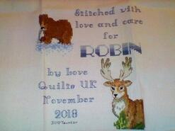 Cross stitch square for Robin T's quilt