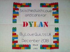 Cross stitch square for Dylan G's quilt