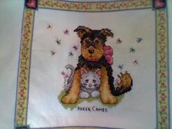 Cross stitch square for Lily's quilt