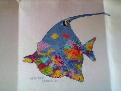 Cross stitch square for Tyler R's quilt