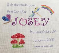 Cross stitch square for Josey L's quilt