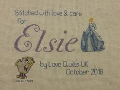 Cross stitch square for Elsie N's quilt
