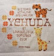 Cross stitch square for Yehuda M's quilt