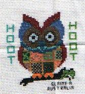 Cross stitch square for Ava-Marie W's quilt