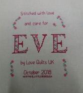 Cross stitch square for Eve P's quilt