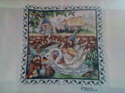 Cross stitch square for Grace B's quilt