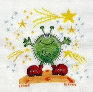 Cross stitch square for Levi C's quilt