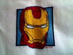 Cross stitch square for Logan N's quilt