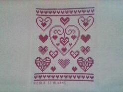Cross stitch square for Laura C's quilt
