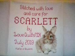 Cross stitch square for Scarlett C's quilt