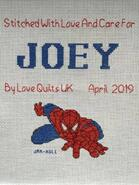 Cross stitch square for Joey W's quilt