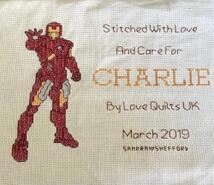 Cross stitch square for Charlie C's quilt