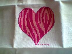 Cross stitch square for Alishah S's quilt