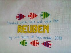Cross stitch square for Reuben S's quilt