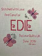 Cross stitch square for Edie's quilt