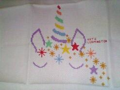 Cross stitch square for Savannah's quilt