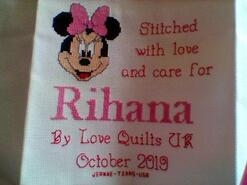 Cross stitch square for Rihana Z's quilt