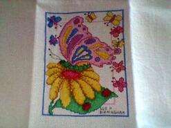 Cross stitch square for Amina M's quilt