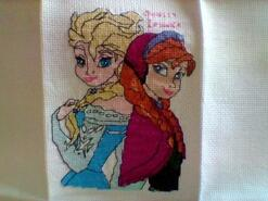 Cross stitch square for Belle J's quilt
