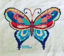 Cross stitch square for Anaya Z's quilt