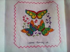 Cross stitch square for A's quilt