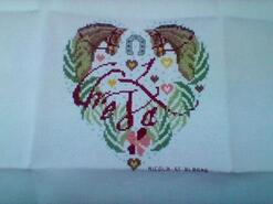 Cross stitch square for Gracie-Lilly's quilt