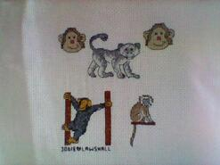Cross stitch square for Kian D's quilt