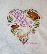 Cross stitch square for Olivia C's quilt