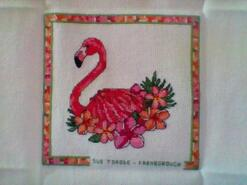 Cross stitch square for Josselin T's quilt