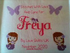 Cross stitch square for Freya T's quilt