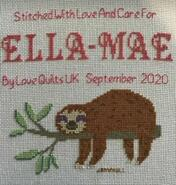 Cross stitch square for Ella-Mae's quilt
