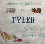 Cross stitch square for Tyler S's quilt