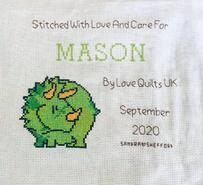 Cross stitch square for Mason W's quilt