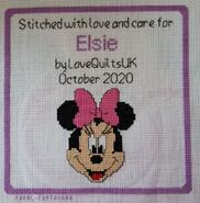 Cross stitch square for Elsie C's quilt