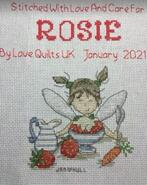 Cross stitch square for Rosie R's quilt