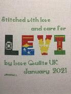 Cross stitch square for Levi R's quilt