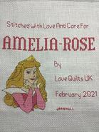 Cross stitch square for Amelia-Rose's quilt