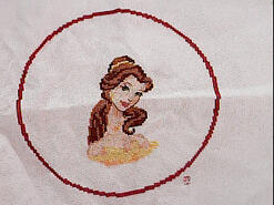 Cross stitch square for (QUILTED) Circles 4's quilt