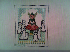 Cross stitch square for Alice-Mai's quilt