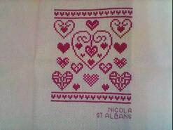 Cross stitch square for Briony N's quilt