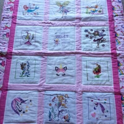 Photo of Violet Js quilt
